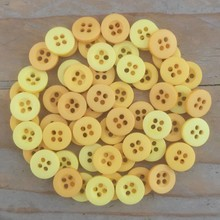 Dovecraft Plastic Buttons - Lemon