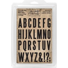 Idea-ology Block Uppercase Alpha 3,81 cm Cling Foam Stamps (TH93577)