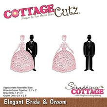 Scrapping Cottage CottageCutz Elegant Bride & Groom (CC-318)