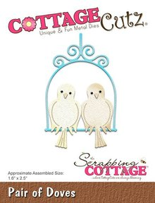 Scrapping Cottage CottageCutz Pair Of Doves (CC-323)