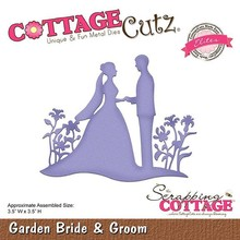 Scrapping Cottage CottageCutz Garden Bride & Groom (CCE-469)