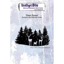 IndigoBlu Deer Forest A6 Rubber Stamp (IND0364)