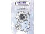IndigoBlu Wild Poppy A6 Rubber Stamp (IND0373)