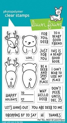 Lawn Fawn For You Deer Clear Stamps (LF1480)