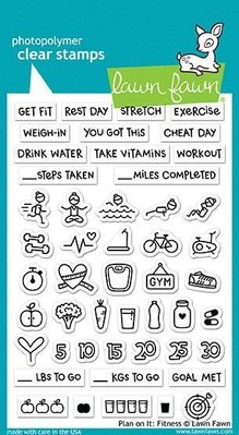 Lawn Fawn Plan On It Fitness Clear Stamps (LF1483)