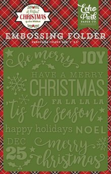 Echo Park A Perfect Christmas Be Merry 12,7x14,9 cm Embossing Folder (APC135031)