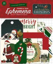 Echo Park 'Twas The Night Before Christmas Ephemera Frames & Tags (TNC134021)