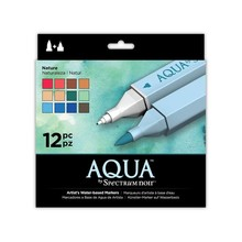 Spectrum Noir Aqua Markers Nature 12 Colors (SPECN-AQ12-NAT)