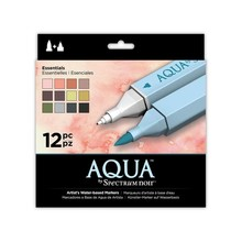 Spectrum Noir Aqua Markers Essentials 12 Colors (SPECN-AQ12-ESS)