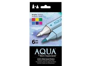 Spectrum Noir Aqua Markers Brights 6 Colors (SPECN-AQ6-BRI)