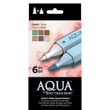 Spectrum Noir Aqua Markers Earth 6 Colors (SPECN-AQ6-EAR)