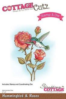 Scrapping Cottage CottageCutz Stamp & Die Hummingbird & Roses (CCS-034)