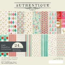 Authentique Colorful Christmas 6x6 Inch Paper Pad (COL010)