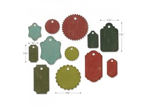Sizzix Thinlits Alterations Gift Tags (662423)