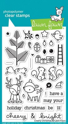 Lawn Fawn Cheery Christmas Clear Stamps (LF1216)