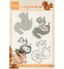 Marianne Design Tiny's Squirrel Layering Clear Stamp (TC856)