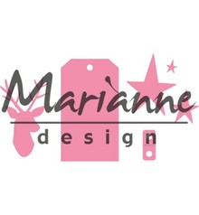 Marianne Design Collectable Giftwrapping Karin's Deer Stars & Tag (COL1442)