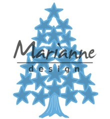 Marianne Design Creatable Tiny's Christmas Tree With Stars (LR0490)