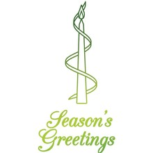 Ultimate Crafts Hot Foil Stamp Seasons's Greetings Candle (2PC) (UL158335)