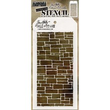 Stampers Anonimous Tim Holtz Slate Layering Stencil (THS085)