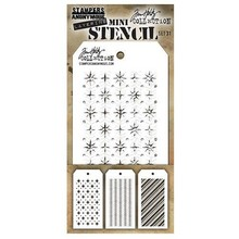 Stampers Anonimous Tim Holtz Mini Layering Stencil Set 31 (THMST031)