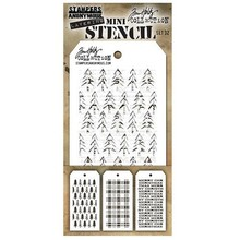 Stampers Anonimous Tim Holtz Mini Layering Stencil Set 32 (THMST032)
