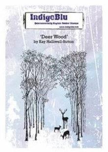 IndigoBlu Deer Wood A6 Rubber Stamp (IND0378)