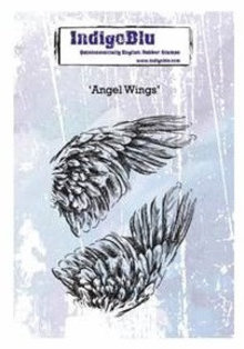 IndigoBlu Angel Wings A6 Rubber Stamp (IND0379)