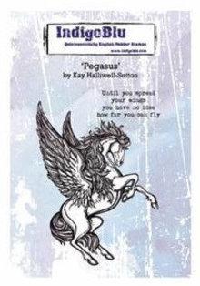IndigoBlu Pegasus A6 Rubber Stamp (IND0380)