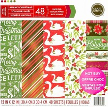 Craft Smith Always Christmas 12x12 Inch Paper Pad (MSE2191)
