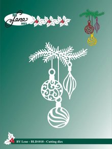 By Lene Metal Dies Branch With Christmas Bells (BLD1018)