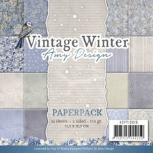 Amy Design Vintage Winter 6x6 Inch Paper Pack (ADPP10019)