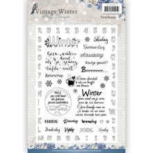 Amy Design Vintage Winter Clear Stamp Set (ADCS10022)