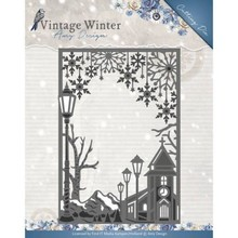 Amy Design Vintage Winter Village Frame Straight Die (ADD10121)