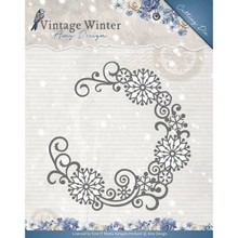 Amy Design Vintage Winter Snowflake Swirl Round Die (ADD10122)