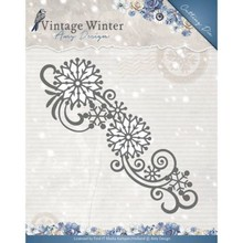 Amy Design Vintage Winter Snowflake Swirl Border Die (ADD10123)