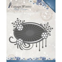 Amy Design Vintage Winter Snowflake Swirl Label Die (ADD10124)