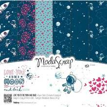ModaScrap Love You To The Moon And Back 12x12 Inch Paper Pack (LYMPP12)