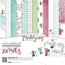 ModaScrap Unconventional Xmas 12x12 Inch Paper Pack (UXPP12)