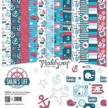 ModaScrap Sailor's Life 12x12 Inch Paper Pack (SLFPP30)