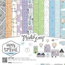 ModaScrap Happy Travel 12x12 Inch Paper Pack (HTPP30)