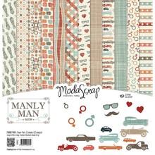 ModaScrap Manly Man 12x12 Inch Paper Pack (MMPP12)