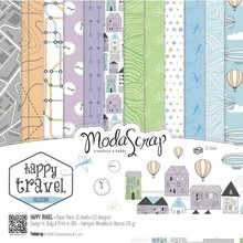 ModaScrap Happy Travel 6x6 Inch Paper Pack (HIPP15)