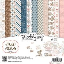 ModaScrap Viaggi Vintage 6x6 Inch Paper Pack (VVPPG)