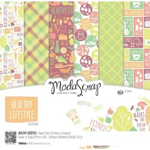 ModaScrap Healthy Lifestyle 6x6 Inch Paper Pack (HLPP15)