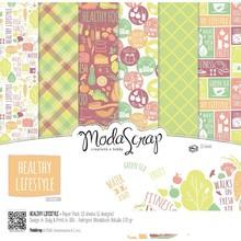ModaScrap Healthy Lifestyle 6x6 Inch Paper Pack (HLPP15)