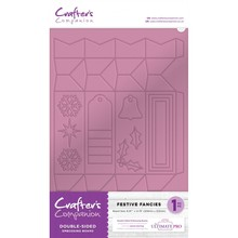 Crafter's Companion Double-Sided Embossing & Scoring Board Festive Fancies (EMBRD-FEST)