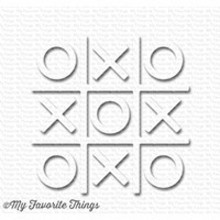 My Favorite Things Tic Tac Toe White (SUPPLY-3013)