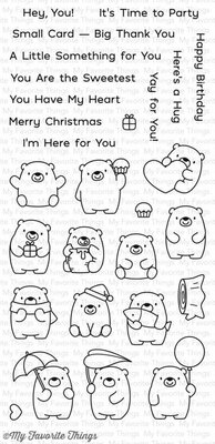 My Favorite Things Bitty Bears Clear Stamps (BB-49)