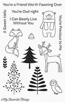 My Favorite Things Friends In The Forest Clear Stamps (CS-249)